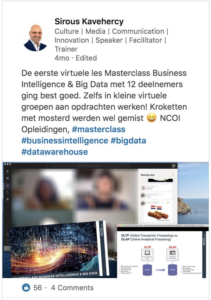 Masterclass BI & Big Data - Sirous Kavehercy
