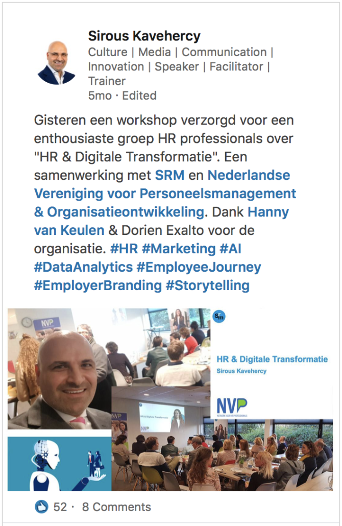Workshop HR and Digital Transformation - Sirous Kavehercy